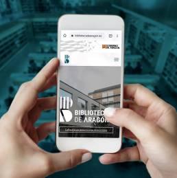 Web biblioteca de Aragón smartphone